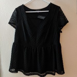 Lane Bryant Black Lace Blouse